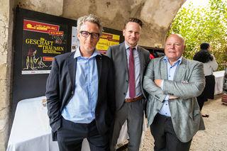 Präsident des Rotary Club Völkermarkt Klaus Hollauf (mitte) mit seinen beiden Sekretären Andreas Jerlich und Igor Pucker