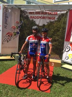 Peter Tatzreiter und Ferdinand Hager vom Bike Team Ginner.