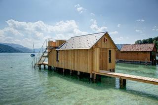Das Bootshaus in Seewalchen wurde von PLONERBAU neu errichtet.