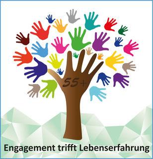 Das bunte Logo für das Freiwilligenprojekt.