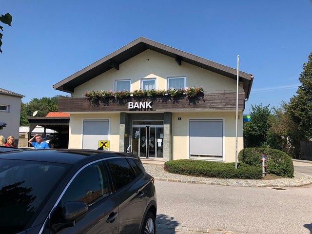 Diese Bankfiliale wurde beraubt.