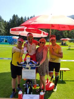 Dominik Pacher, Alexander Radin und weitere Engagierte organisierten einen Spendenlauf zugunsten der Lebenshilfe Spittal