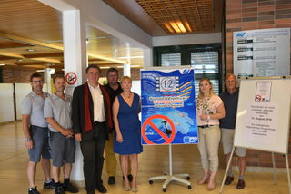 SP Bundesrätin Doris Hahn und SP Stadtparteivorsitzender Stadtrat Stefan Mann besuchten kürzlich die Betriebsräte der AUVA um über die Auswirkungen der geforderten Einsparungen zu sprechen.