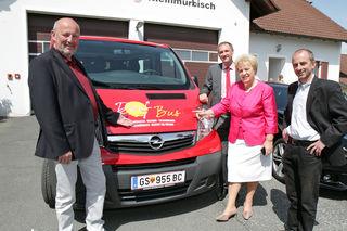Gefördert werden ein neuer Dorfbus (Bild) für Kleinmürbisch und Umgebung sowie ein Dorferneuerungsplan für die Gemeinde Weichselbaum.