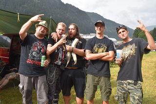 Finnegans-Wirt Hans Döpper, Stefan Steiner, Nico Herrling, Andreas Winkler und Mike Fanninger