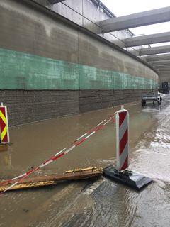 So sah es am Freitag im Voitsberger Tunnel aus, die Trasse wurde überschwemmt.