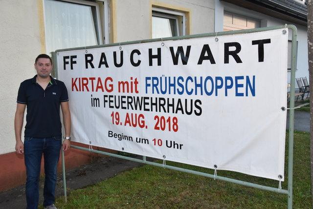 Kommandant Dominik Zach und sein Team organisieren den Kirtag.