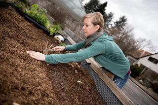 Angelika Ertl-Marko bereitet sich jetzt schon auf den Herbst und auf das nächste Gartenjahr vor.