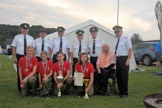 Die Jugendfeuerwehr Bad Blumau gewann den Orientierungsmarsch beim Zeltlager.