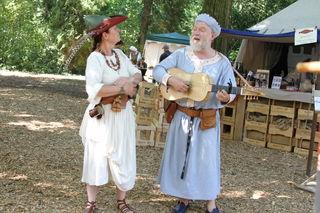 Mittelalterfest in Purgstall: Neben Rittern, Gaukler, Narren und Burgfräulein unterhalten unzählige Spielleute das Publikum beim Gaudium zur Purg.