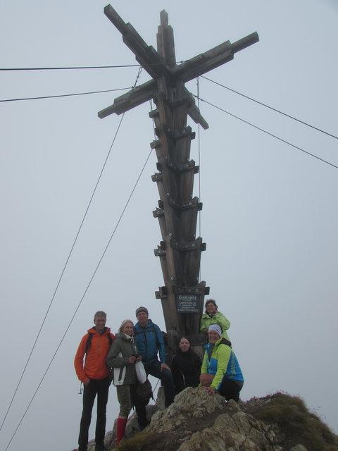 Nur was für die Harten bei dem Wetter: die Teilnehmer der Wanderung auf die 2872m hohe Greitspitze.