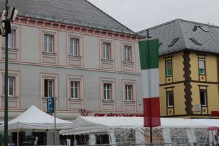 Bella Italia am Voitsberger Hauptplatz, am Vormittag regnete es leider.