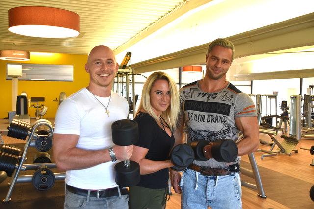 Mit voller Muskelkraft meisterten Thomas Erlacher, Alena Wernig und Wolfgang Fleißner die Eröffnung