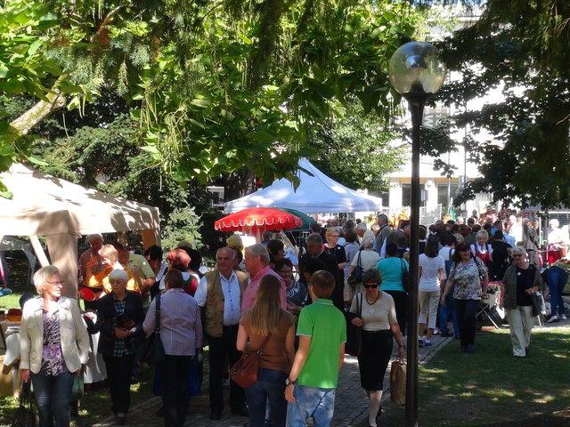 Sehr gut besucht ist jedes Jahr der Hobbykünstlermarkt im Leibnitzer Marenzipark.