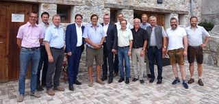 Besichtigung des Dechantstall in Brixen gemeinsam mit den Bürgermeistern.