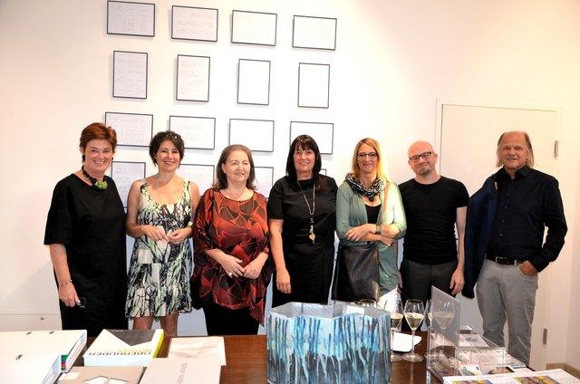 Ina Maria Lerchbaumer, Lisa Kunit, Maria Baumgartner, Petra Weißenböck, Katja Praschak, Thomas Laubenberger-Pletzer, Ulrich Plieschnig (v.li.)