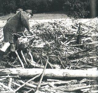 Aufräumarbeiten nach dem Jahrhunderthochwasser: Viele dachten an den Weltuntergang.