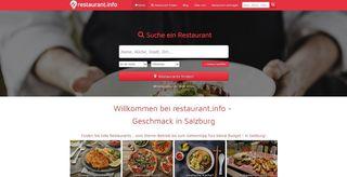 Salzburg erhält mit www.restaurant.info einen neuen Restaurantführer. 850 gelistete Gaststätten und Restaurants befinden sich im Portal.