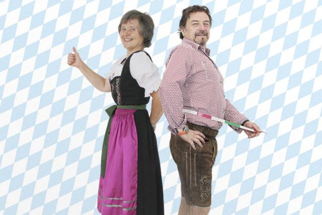 Rosmarie Klanfer und Peter Kunstel sind fesch für die Wiesn.