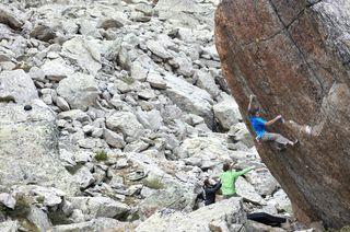 Bouldern im Galtür gehört zu den Kletterschmankerln im Bezirk Landeck.