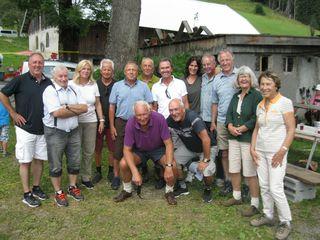 Die EAC Freunde mit Walter Ludescher und Andi Cvetko