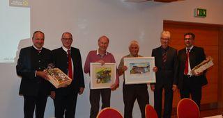 vlnr: GL Josef Purtscher, GL Anton Hochenegger, Ing. Alfred Tschuggmall, Josef Kathrein, Obmann Manfred Brejla, GL Martin Westreicher