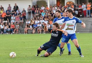 Patrick Aiglstorfer hatte es oft mit zwei Gegenspielern zugleich zu tun!