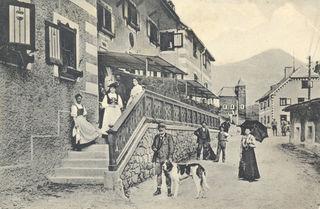 Die Aufnahme stammt aus der Zeit um 1908 - Tauernhaus Wisenegg