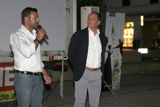 Geschäftsführer Andreas Rath (WOCHE Weiz&Gleisdorf) und Bürgermeister Christoph Stark begrüßten die zahlreichen Besucher