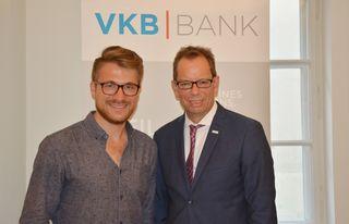Three-Coins-Geschäftsführer Goran Maric (l.) und VKB-Generaldirektor Christoph Wurm.