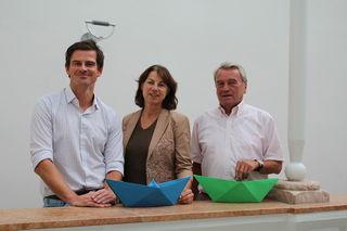 Das Leader-Team Josef Nußdorfer, Sabine Watzlik und Bürgermeister Karl Staudinger (v.l) plant nachhaltige Projekte.