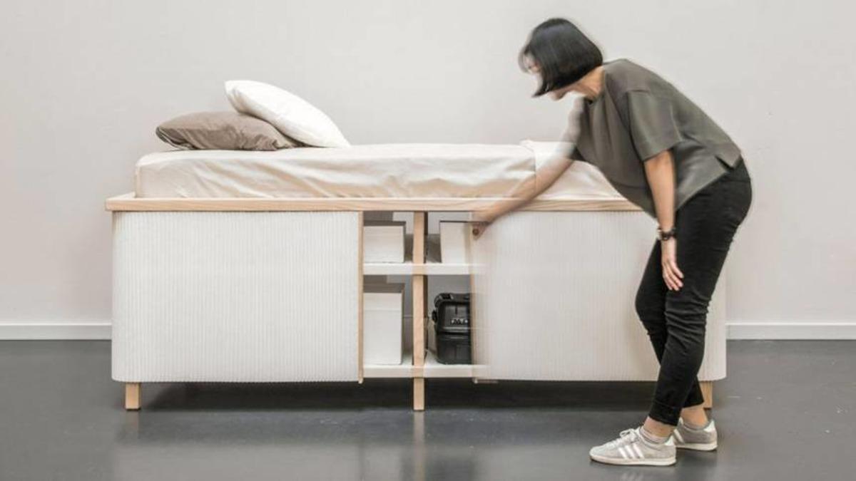 Schön Bett Minimalistisch Galerie Von Das Tiny Home Ein Minimalistischer Entrümpelnder Platzsparer