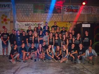 Die Jugend Oberkreuzstetten und noch viele weitere Helfer  gaben gemeinsam grünes Licht für die Ampelparty.