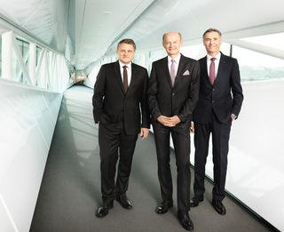 Der Vorstand der Oberbank (v. l.): Florian Hagenauer, Generaldirektor Franz Gasselsberger und Josef Weißl.