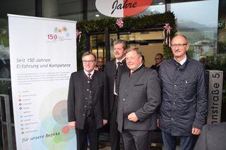 LH Günther Platter, Landecks BH Markus Maaß, LR Bernhard Tilg und Landtagsvizepräsident Anton Mattle hießen die LandeckerInnen zum Tag der offenen Tür willkommen.