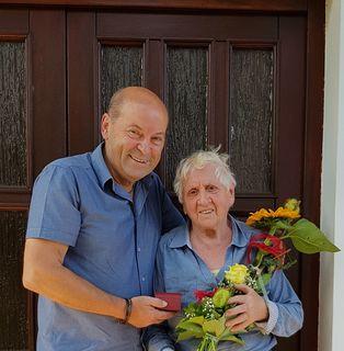 LAbg. Erich Hafner mit Frau Frieda Druschowitz