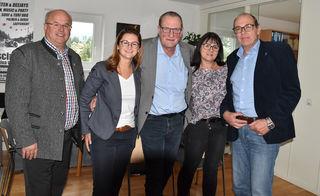 FPÖ-Bezirkschef LAbg. Ernst Lassacher, FPÖ-Landesparteiobfrau NAbg. Marlene Svazek, FA-Spitzenkandidat Friedrich Kößler, Petra Krnza (GV Muhr), FA-Landesobmann-Stv. Frank Conrads.