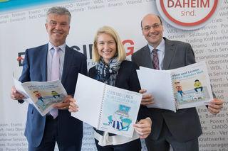 v. l.: Energie AG-Generaldirektor Werner Steinecker, Landesrätin Christine Haberlander und Education Group-Geschäftsführer Peter Eiselmair.