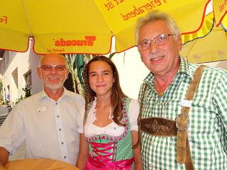 Franz Spirk, Blasmusikerin Elena Breier und Alfred Kloiber