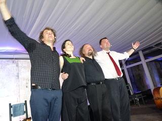 """Die Gruppe """"Landstreich plus"""" mit Krzysztof Dobrek, Christof Spörk, Johanna Kugler und Gerhard Draxler."""