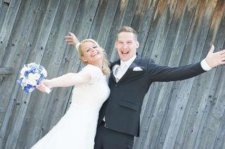 Ein glückliches Paar: Bianca und Dominik Ritzinger