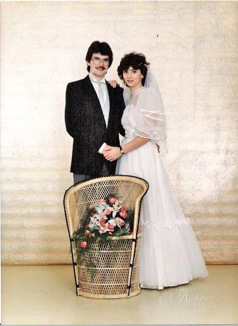 Carlo und Gerda bei der Hochzeit 1984.