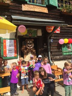 Die Kinder feierten ihr eigenes Fest