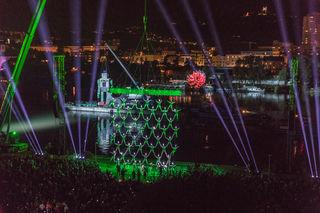 105.000 Zuseher pilgerten am vergangenen Wochenende zur Visualisierten Klangwolke in den Donaupark.