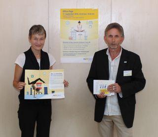 v.l.n.r. Mag. Alexandra Eichenauer-Knoll, MA (Trainerin des Bundesverbandes der Yogalehrenden, Yoga Austria) und Harald Köppel (stv. Leiter Service-Center Mistelbach der NÖGKK)