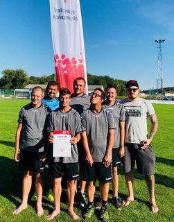 BSV Waiern mit Trainer Guntram Stark (re.)