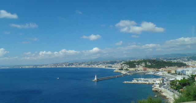 Malerische Fahrt an der Cote d`Azur zum Cap Ferrat.