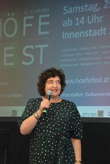 Die neue künstlerische Leiterin Patrizia Liberti präsentierte das Programm des heurigen Höfefestes.