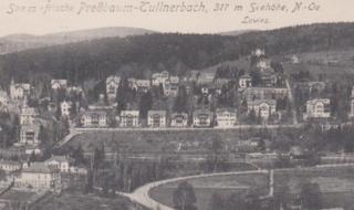 Eine Ansicht von Tullnerbach-Pressbaum aus dem Jahr 1918.