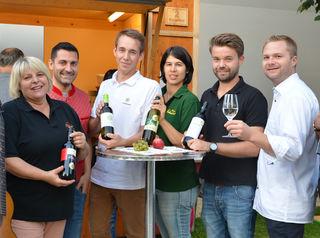 die Winzer Ribisch, Thüringer, Schubert und Waberer mit Christoph Gahr und Erich Stubenvoll